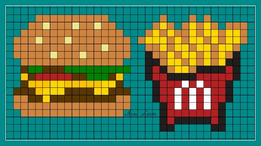 Minecraft Pixel Art Einhorn