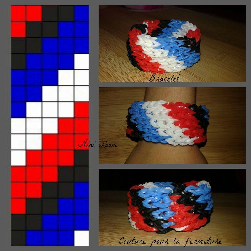Mes creations en loom page 8 for Mural en elastique