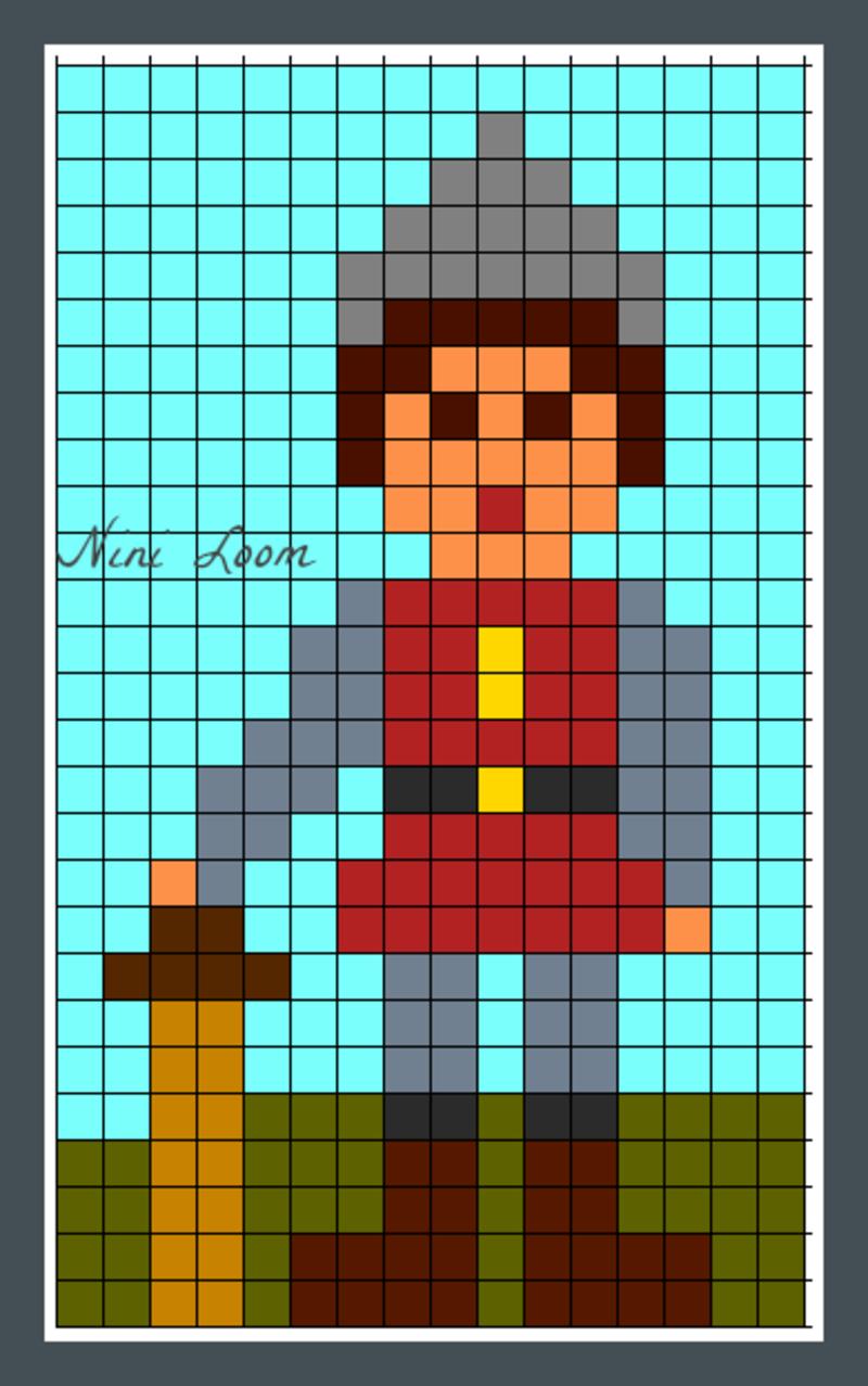 Pixel Art Chevalier