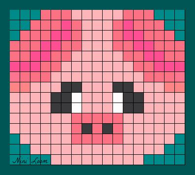 pixel art cochon