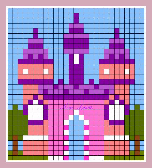 Dessin Pixel Chateau