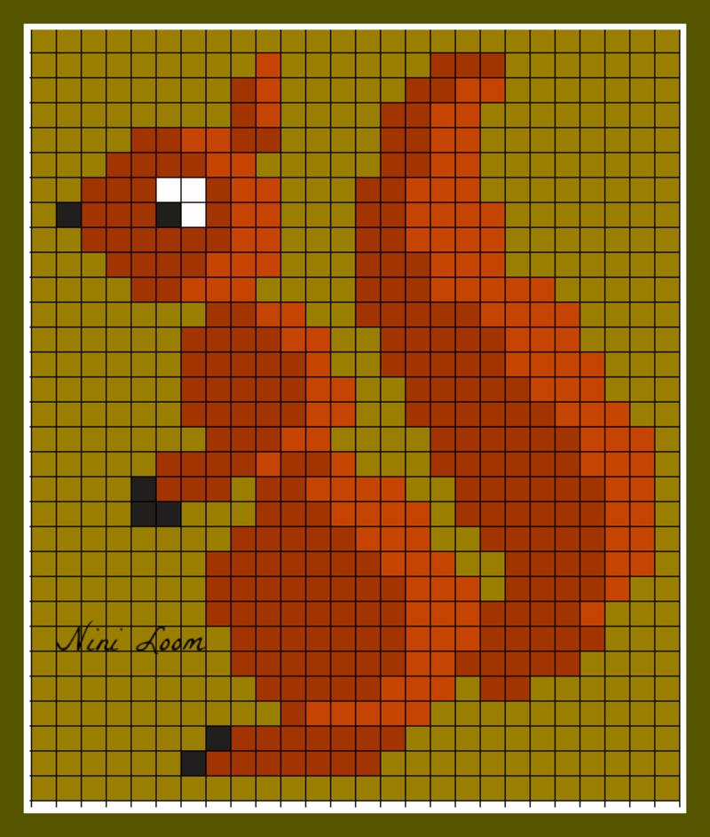 pixel art ecureuil