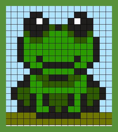 Pixel Art Grenouille