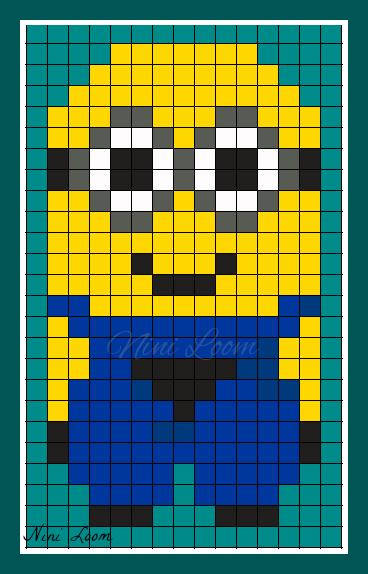 Pixel Art Minion Vampire