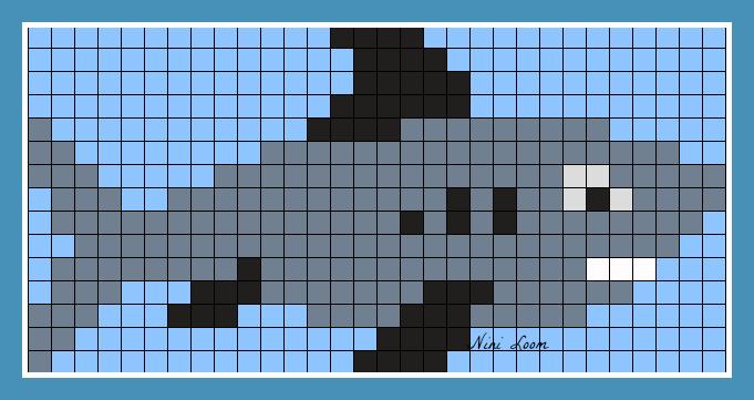 Pixel Art Requin