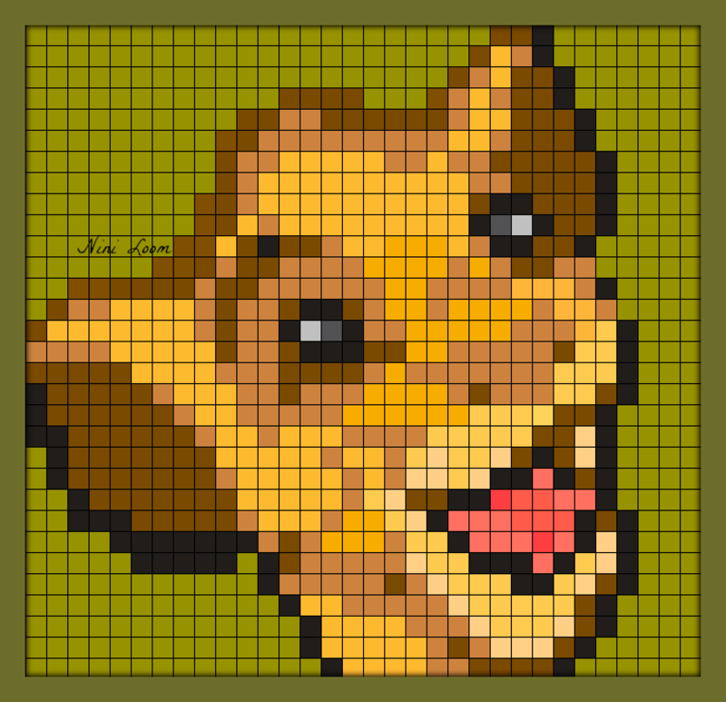 Pixel Art Roi Lion