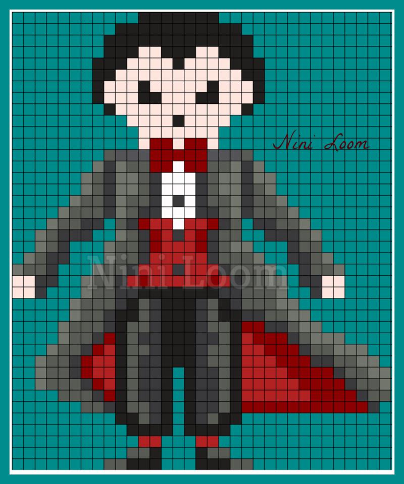 Pixel Art Vampire