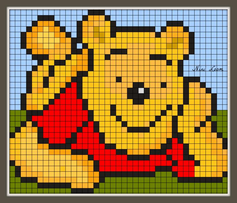 pixel art ourson